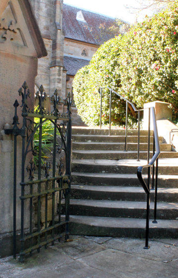 Wrought Iron Black Handrail-And-Gate
