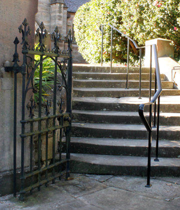 Wrought Iron Black Handrail And Gate