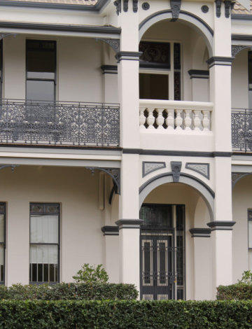 Wrought Iron Terrace Balustrade And Frieze